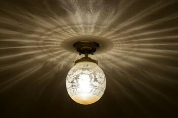 玄関の照明の施工例