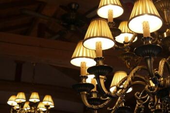 リビングの照明の施工例