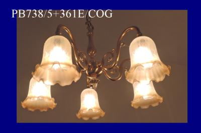 コンコルディア照明のシャンデリアの人気商品|PB738/5+361E/COG
