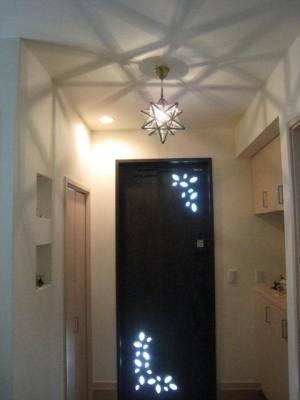 玄関照明の星型ペンダントライトla800s