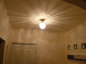アンティーク調の天井灯pb393+106esatを玄関に