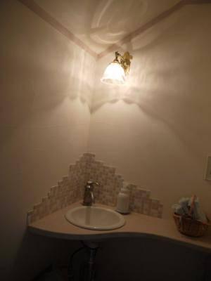 手洗いスペースのブラケットライト h-wb251+201.clr-1.jpg