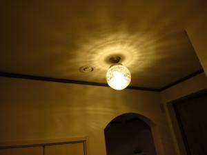 アンティーク調の天井灯108ecog-pb394を玄関照明として