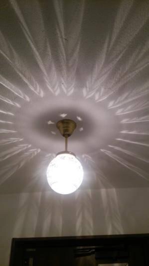 玄関の照明としてアンティークな雰囲気天井灯106E/SAT-PB393/Hを設置