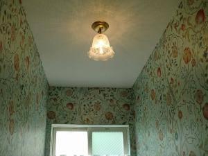 綺麗な壁紙とのコラボが見事なトイレの天井照明352E/SAT-PB391