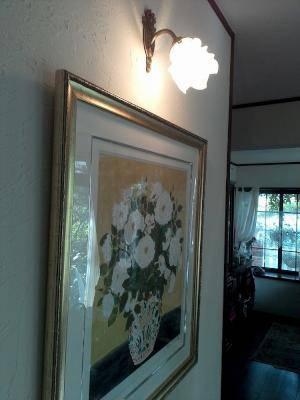 バラのデザインのウォールブラケットwf323+235/satを絵の照明として