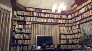 書斎の本棚とよく合うクラシックなシャンデリアpb431/5+421/cut