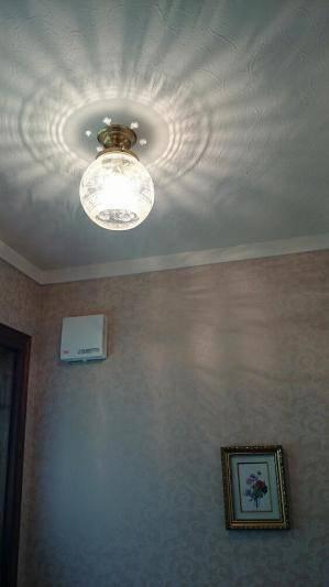 トイレの照明の施工例pb394-355e/cog-天井に映りこむ影が美しい