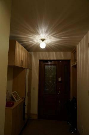 アンティーク風の玄関照明106ecog+pb393の施工例