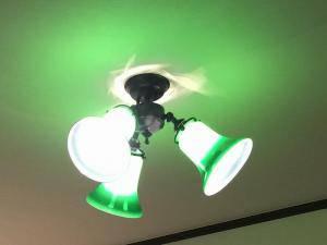 玄関ホールの天井照明pb615-3z+421grnの施工例