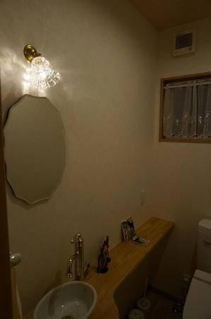 トイレの照明として手洗いの小さな壁照明wb235+475clr
